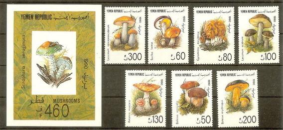 Estampillas Yemen 1990 Hongos Serie Completa Mint