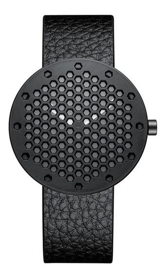 Moda Honeycomb Dial Hombres Reloj De Acero Inoxidable De Cue