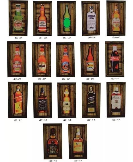Quadro Com Moldura Rústica - Pubs - Bar - Cerveja - Boteco