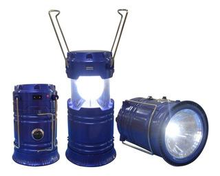 Lampara Portátil Recargable Led Linterna Camping Luz Solar
