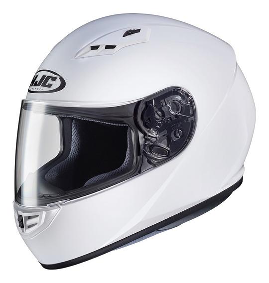 Casco Moto Hjc Integral Cs-15 Sólido White