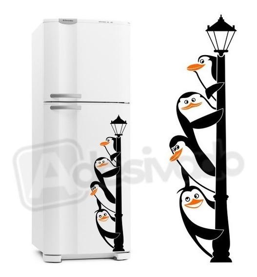 Adesivo Decorativo Geladeira Cozinha Pinguins De Madagascar