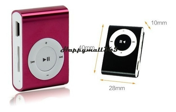Mini Usd Mp3 Player Com Slot Para Cartão