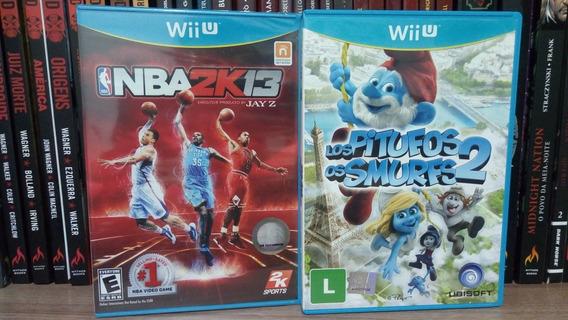 Lote Jogos Wiiu Nba 2k13 Lacrado + Smurfs 2