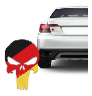 Adesivo Resinado Caveira O Justiceiro Alemanha Carro Moto