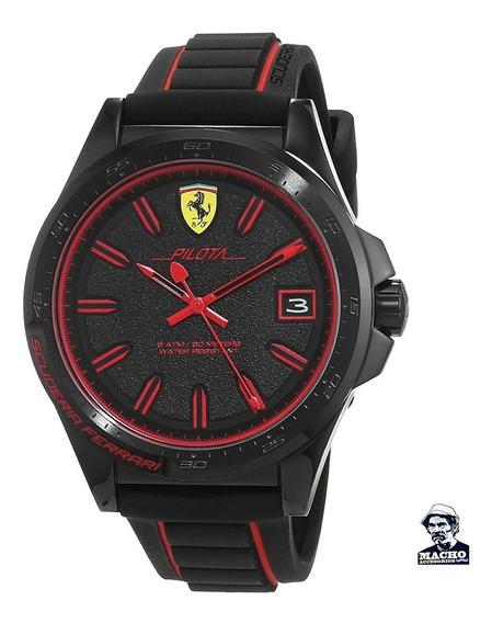 Reloj Ferrari Pilota 0830421 En Stock Nuevo Original En Caja