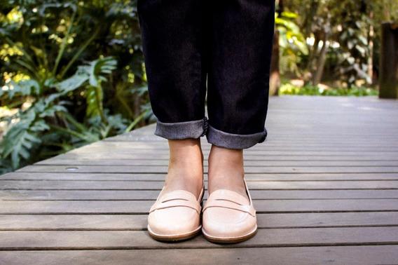 Sapato Feminino - Mocassim Nude / Bege