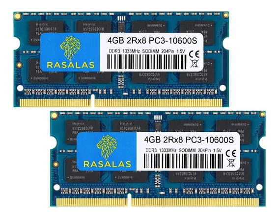 Memoria Ddr3 8gb 2x4gb 1333mhz Notebook Macbook Pro iMac Mac