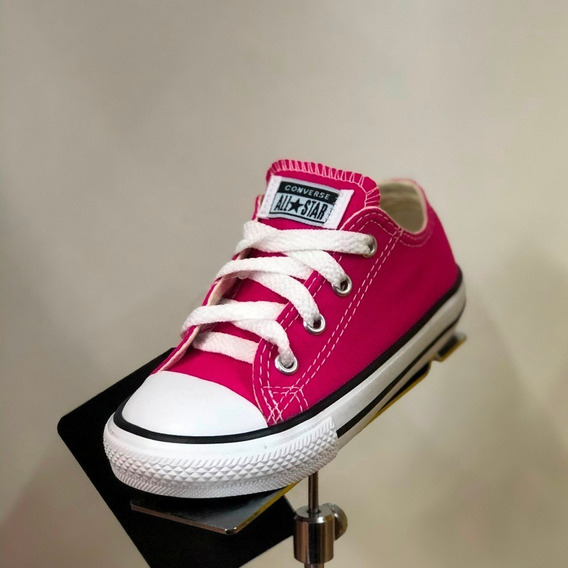 Tênis All Star Infantil Rosa Pink Cadarço Original - Att