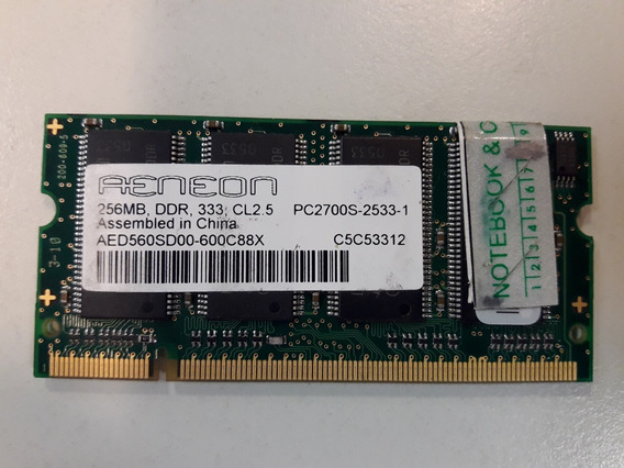 Ram Notebook Ddr2 256 Mb Pc2-2700s-333mhz