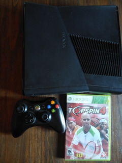 Xbox 360 Slim 4 Gb + Joystick + Top Spin 4, Todo Original