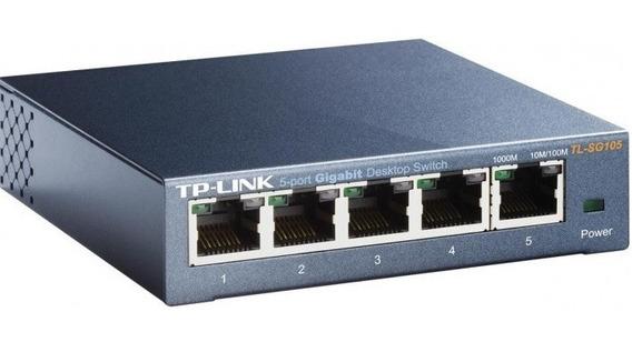 Switch Tp-link 5 Portas Gigabit De Mesa 10/100/1000 Tl-sg105