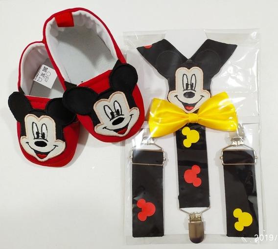 Tirantes De Mickey Mouse Con Zapatos