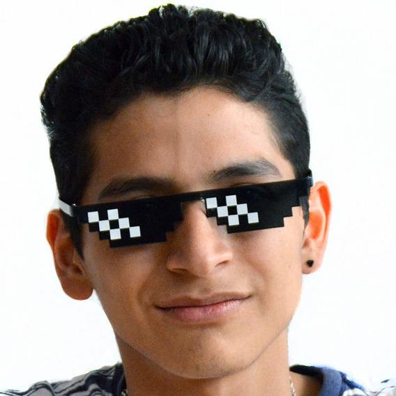 Lentes Gafas Pixel Thug Life Pixeleado Broma Fiesta