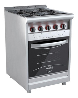 Cocina Morelli Industrial 55 Cm 4 Hornallas Puerta Visor