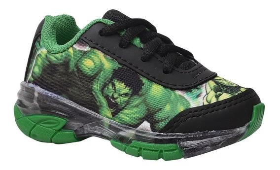 Tênis Infantil Hulk Com Luz