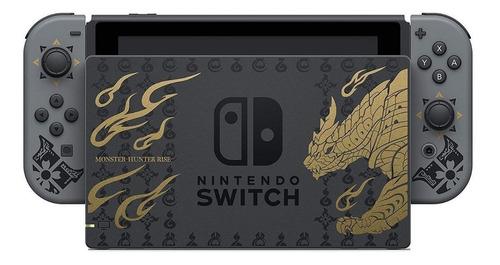 Imagen 1 de 2 de Nintendo Switch 32GB Monster Hunter Rise Deluxe Edition color  gris, negro y dorado
