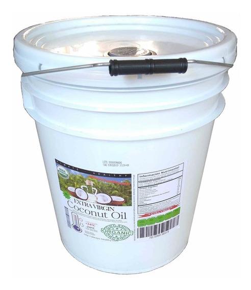 Aceite Coco Orgánico Exvirgen Prensado/frío Sin Sabor 19 Lts