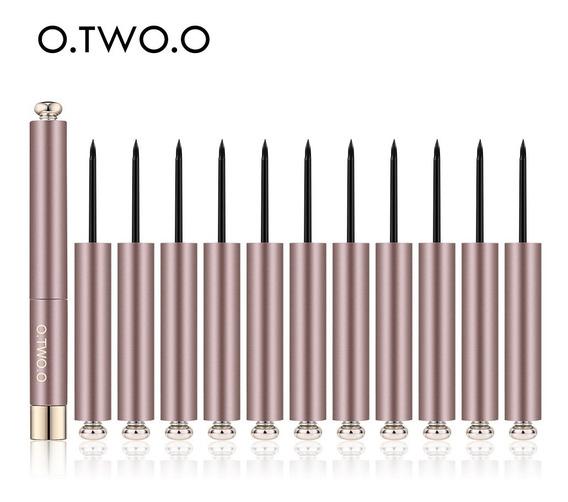 O.two.o 12 Pices/ensemble Lápis Eyeliner Liquide Noir Beaut