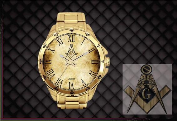 Relógio De Pulso Personalizado Maçonaria Maçon - Cod.mçrp009