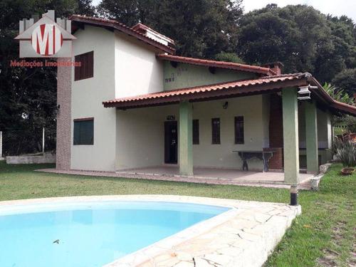 Imagem 1 de 30 de Linda Chácara Com Escritura, 03 Dormitórios, Piscina, Pomar, Horta, Varanda Gourmet, À Venda, 1400 M² Por R$ 450.000 - Zona Rural - Pinhalzinho/sp - Ch0996