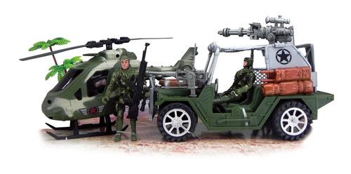 Set Militar 2 Soldados Accesorios Military Warrior Mission
