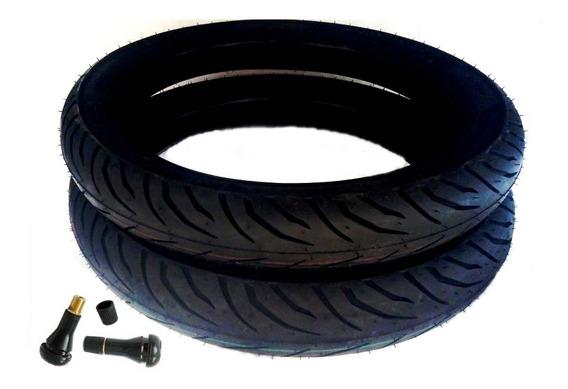 Par Pneus Pirelli 90/90-18 + 100/90-18 Sem Câmara C/ Bicos