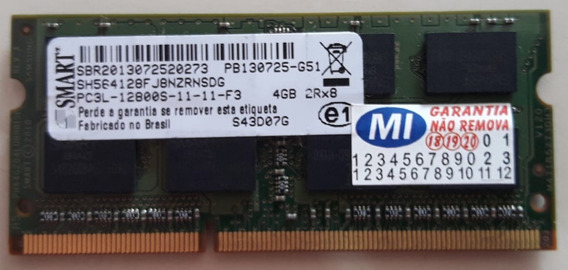 Memória P/ Notebook Smart 4 Gb. Ddr3l 1600 Mhz