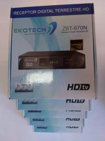Kit 5 Unidades Conversor Tv Digital Ekotech Zbt 650n