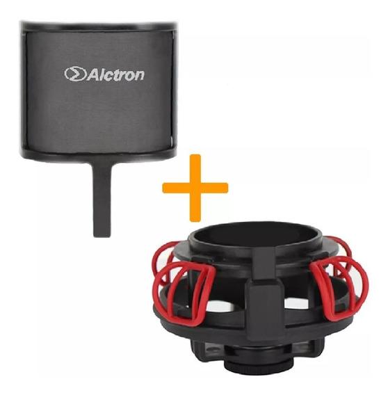 Shockmount Antipop Alctron Ma840 Para Microfono Condensador