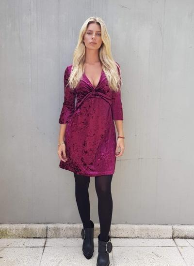 Vestido Talle P Color Bordo