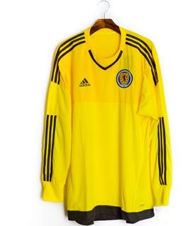 Camisa Futebol Masculino Da Escócia Goleiro 2015/16 adidas