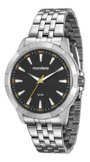 Relógio Mondaine Análogo 45mm Pulseira Aço 99134g0mvne2