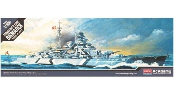 German Battleship Bismarck Escala 1/800 Academy 14218
