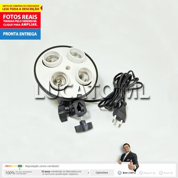 Cabeça Suporte Articulado Luz Contínua Com 4 Soquetes E27 Nv