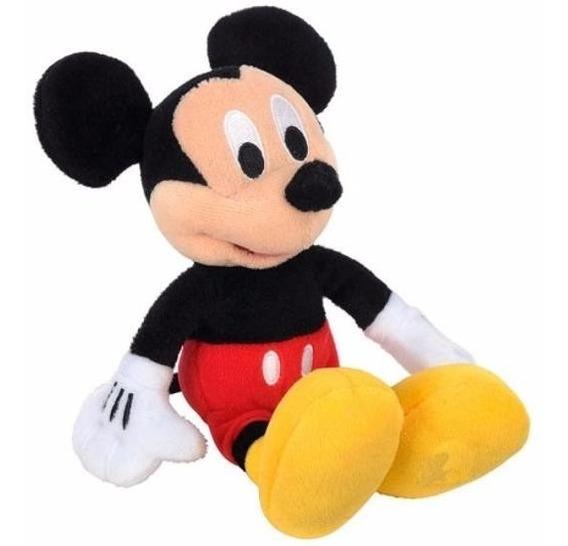 2 Bonecos De Pelucia, Mickey E Pluto + Brinde