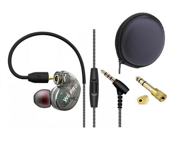 Fone In Ear Qkz W6 Pro Retorno Palco Se215 - Cabo Destacável