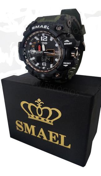 Relógio Smael 1545 Original Militar Camuflado Prova D´ Água