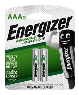 Pilas Recargables Energizer Aaa 700 Mah Blister X2