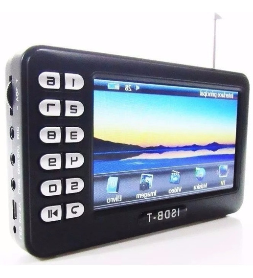 Tv Digital Portatil 4.3 Micro Sd Video Pendrive Radio Fm E91
