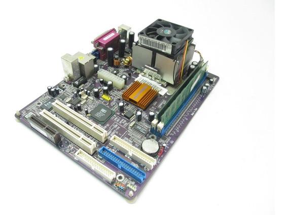 Kit Placa Mãe Ecs Elitegroup K7som (processador+memoria)