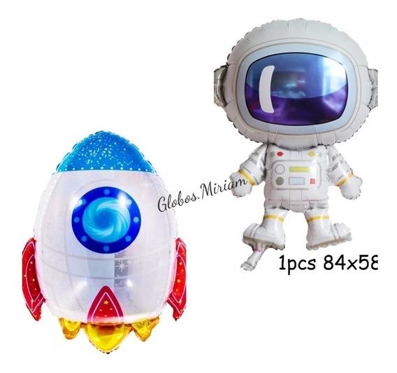 Combo Galaxia Astronauta Y Cohete
