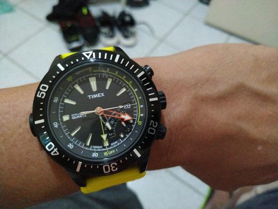 Baixei Relogio Timex Dep T2n Sensor Profundidad Temperatur