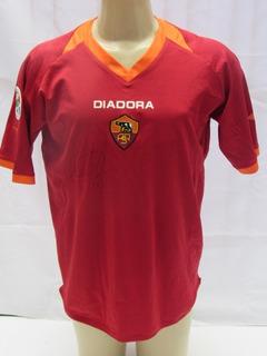 Camisa De Futebol Do Roma Da Italia #4 Wilhelmsson - 2007 T