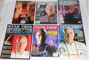 Star Trek Communicator Lote Picard 6 Revistas Importadas