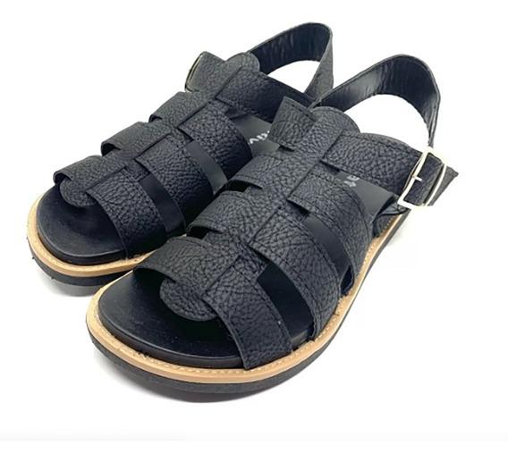 Sandalias Mujer Zapatos Cuero Ecologico Franciscanas (ch02)