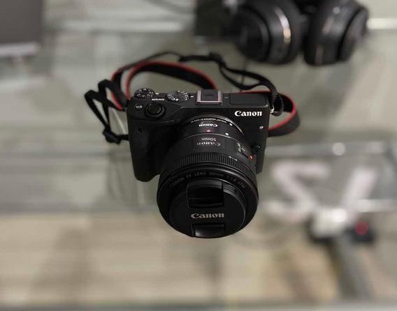 Kit Canon M3 + 50mm + Acessórios