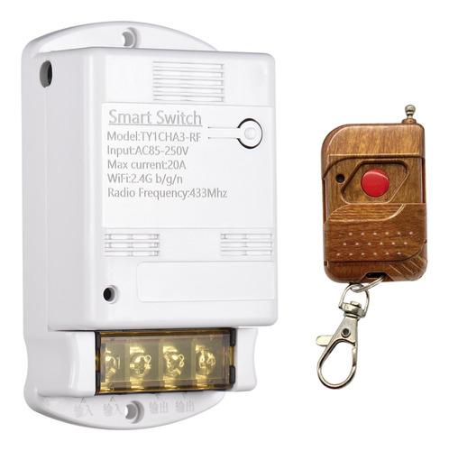 Imagen 1 de 9 de Wifi Smart Switch 10a Inalámbrico Temporizador De Luz 433mhz