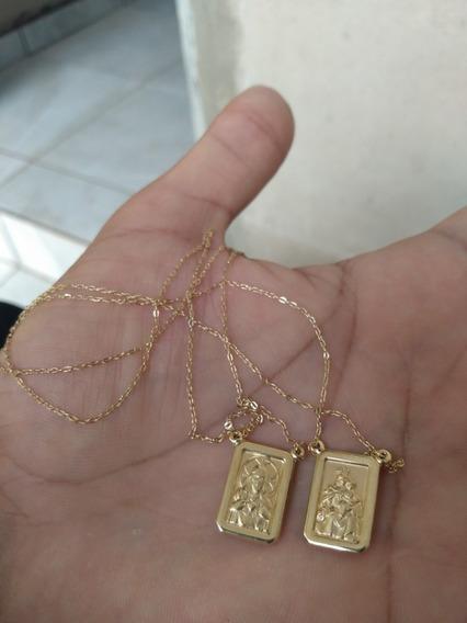 Cordão Escapulário Em Ouro 18k
