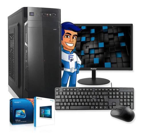 Imagem 1 de 6 de Computador Completo Intel Dual Core 4gb Hd500gb Monitor Wifi